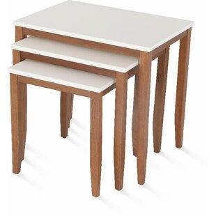 Osseo Lightweight Stackable Rectangular 3 Piece Nesting Tables