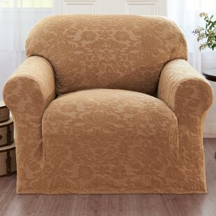 Damask Box Cushion Armchair Slipcover