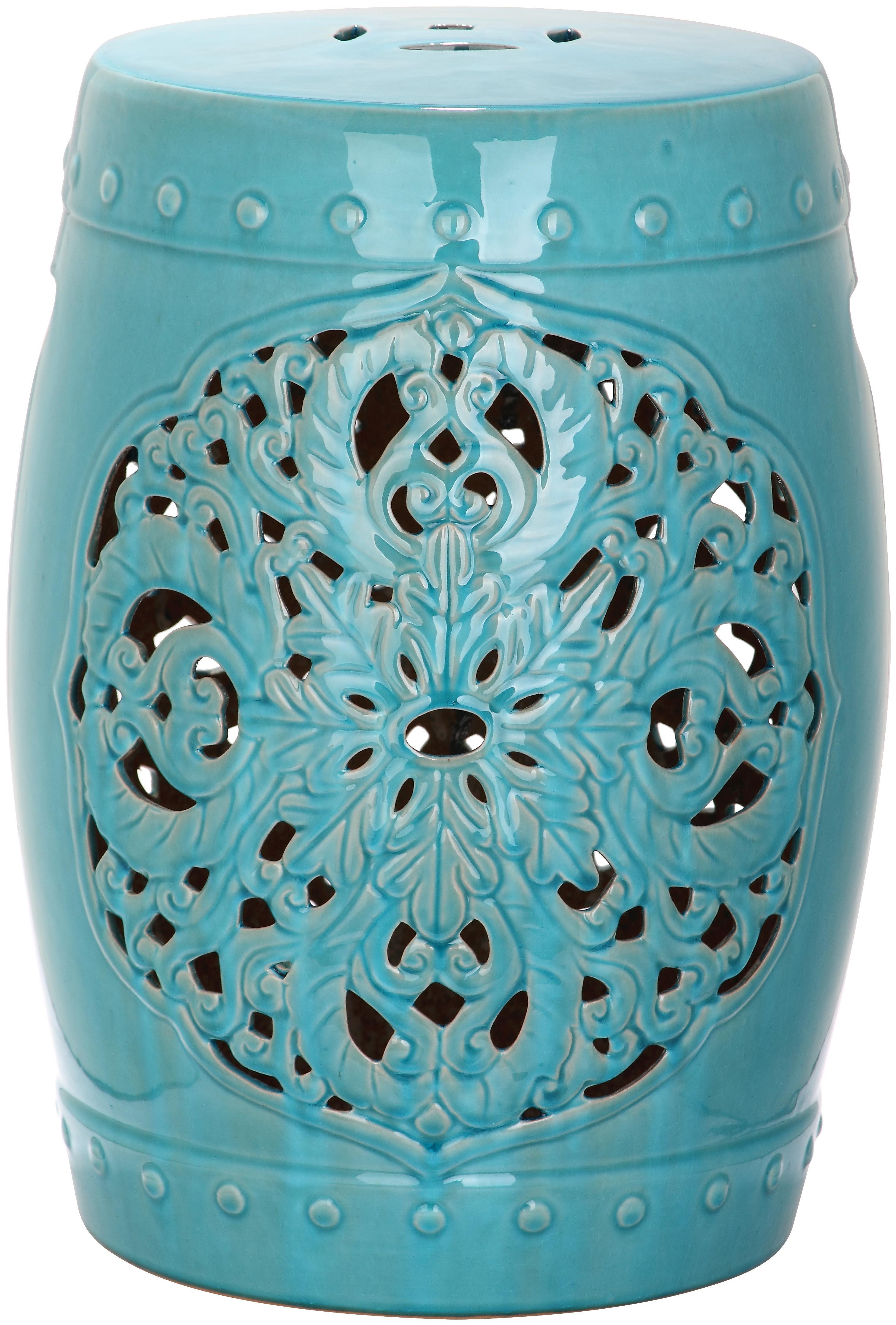 products multi shades blue garden of stool ceramic light peacock