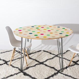 East Urban Home Hello Sayang Spotty Dot Dining Table