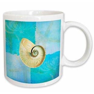 Shell With Starfish Aqua And Beach Theme Coffee Mug
