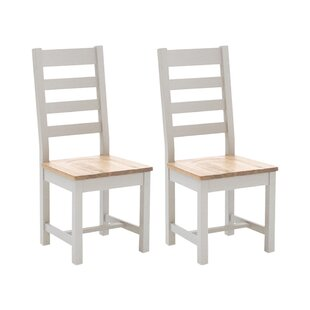 Bellefonte Solid Wood Dining Chair (Set Of 2) By Beachcrest Home
