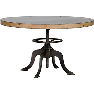 Noir Sandwich Top Metal Dining Table