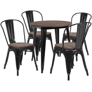 Probst 5 Piece Solid Wood Dining Set Williston Forge