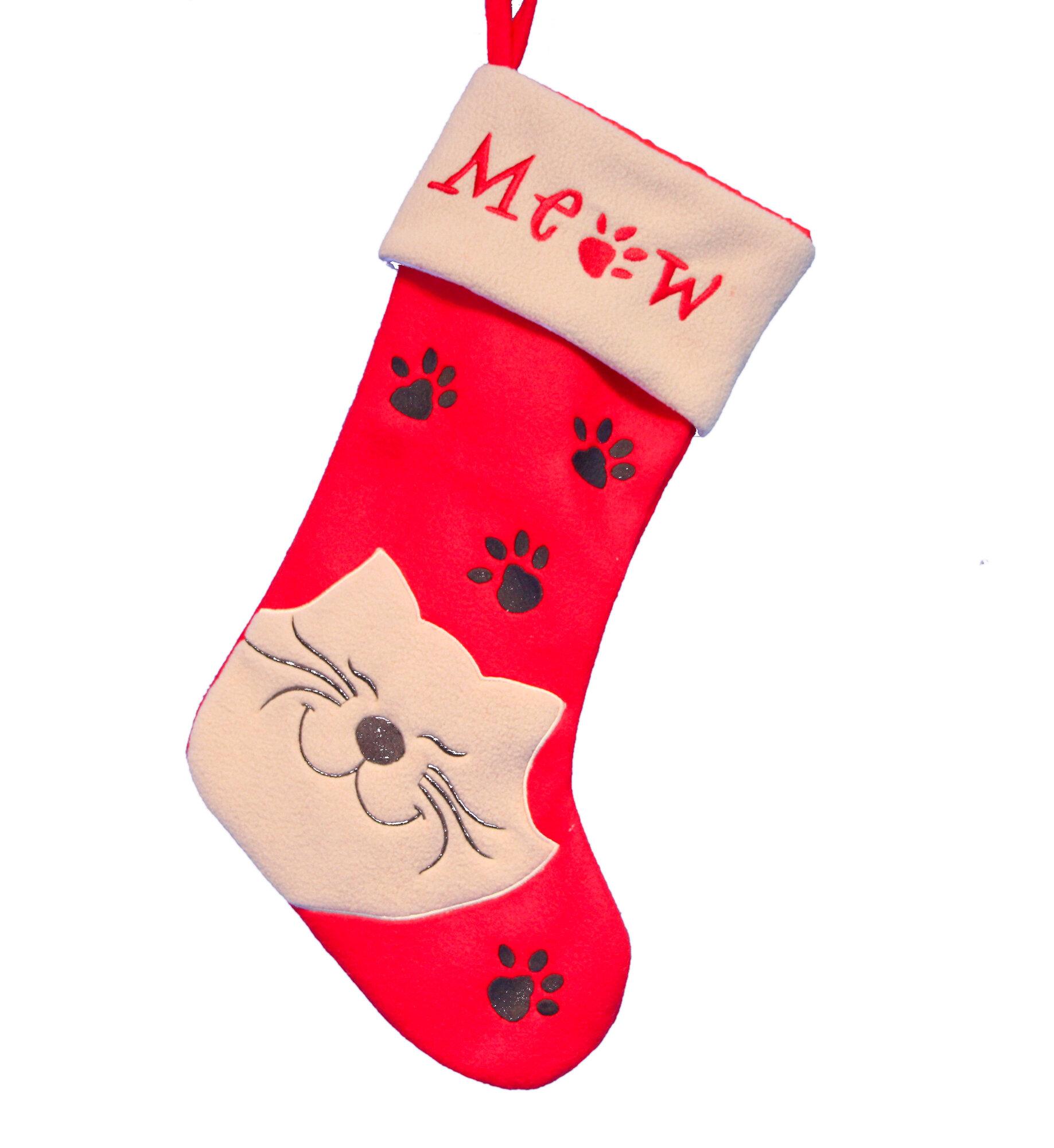 Die Saisontruhe Weihnachtsstrumpf Katze   Wayfair.de