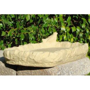 Designer Stone, Inc Shallow PlatformTray Bird Feeder Birdbath