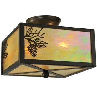 Meyda Tiffany Balsam Pine 2-Light Flush Mount