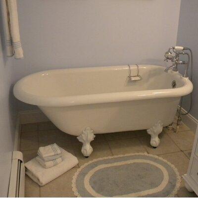 """Monarch 66"""" x 30"""" Freestanding Soaking Bathtub Restoria Bathtub Company Color: Oil Rubbed Bronze"""