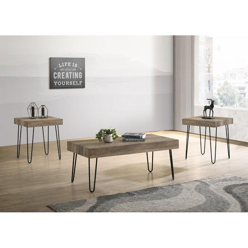Union Rustic Widman Coffee Table Set 3 Pcs Reviews Wayfair Ca