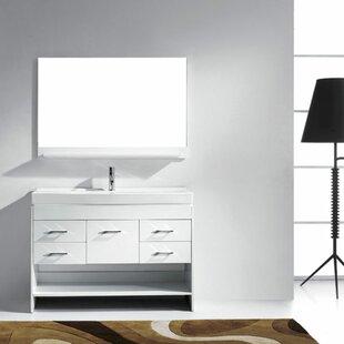 Compare prices Frausto 47 Single Bathroom Vanity Set with Mirror ByBrayden Studio