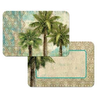 Gracie Oaks Jackqueline Reversible Decofoam 4 Piece Placemat Set Wayfair