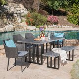 Gray Industrial Wicker Patio Dining Sets You Ll Love In 2021 Wayfair