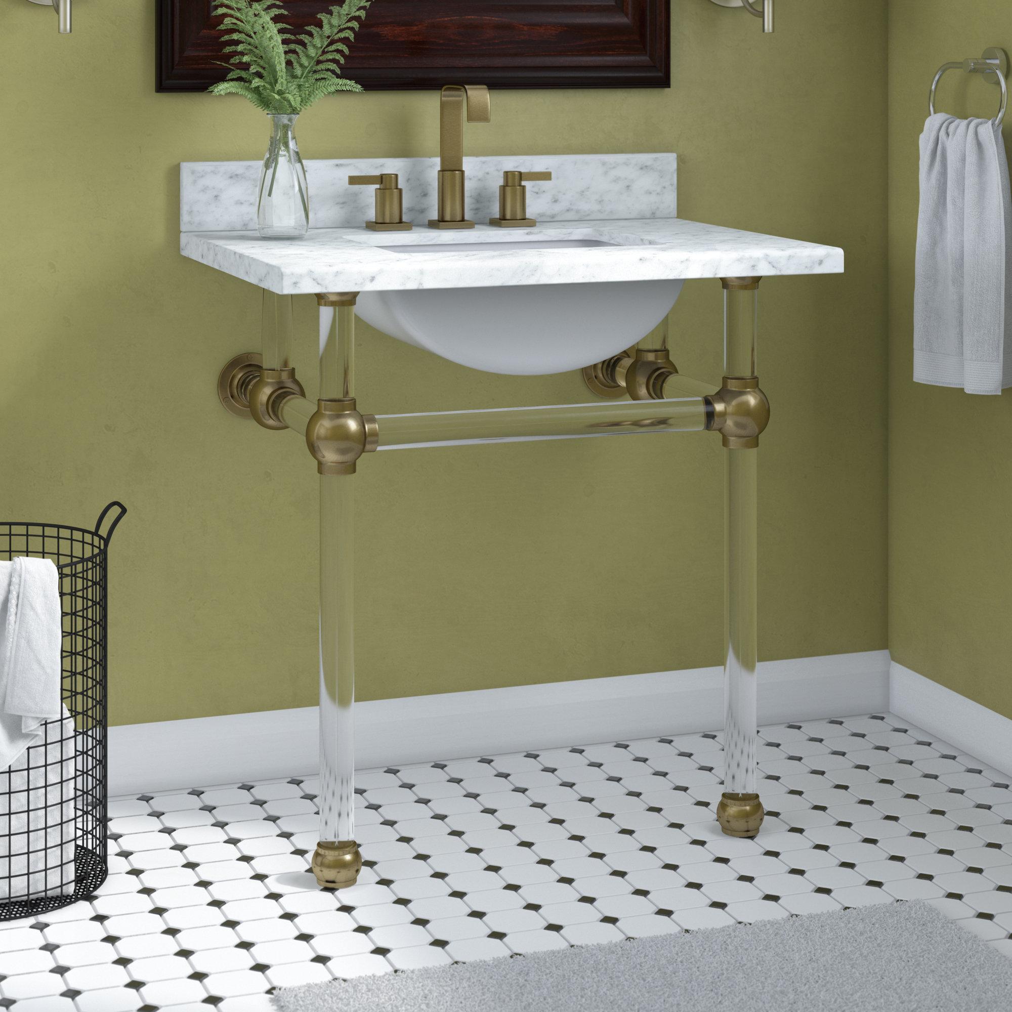 Kingston Brass Carrara Marble 30 Single Bathroom Vanity Set Reviews
