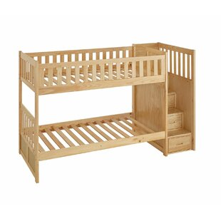 Affordable Price Spillane Staircase Twin Bunk Bed ByViv + Rae