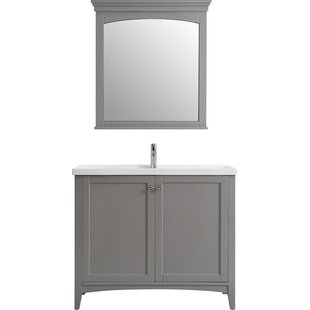 Aguilar 48 Single Vanity Set with Mirror by Mercury Row