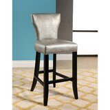 Zora Crocodile Embossed 30 Bar Stool by Everly Quinn