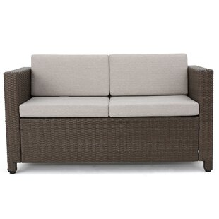 Furst Outdoor Wicker Loveseat with Cushions by Wade Logan