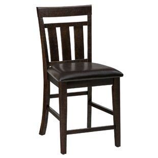 Darby Home Co Carmine Wooden Bar Stool (Set of 2)