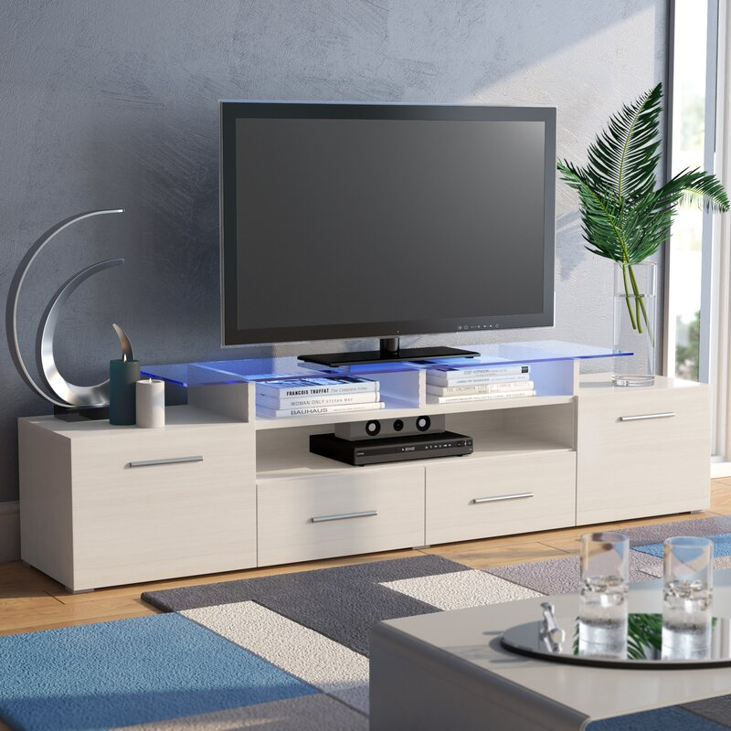 Orren Ellis Damian Tv Stand For Tvs Up To 75 Reviews Wayfair