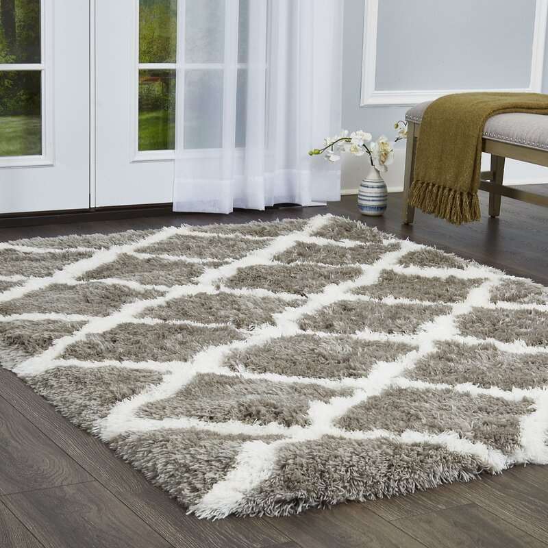 Elle Home Paramount Geometric Gray White Area Rug Reviews Wayfair
