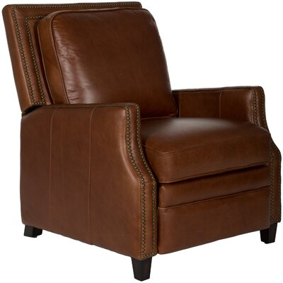 Bischof Leather Manual No Motion Recliner by Darby Home Co