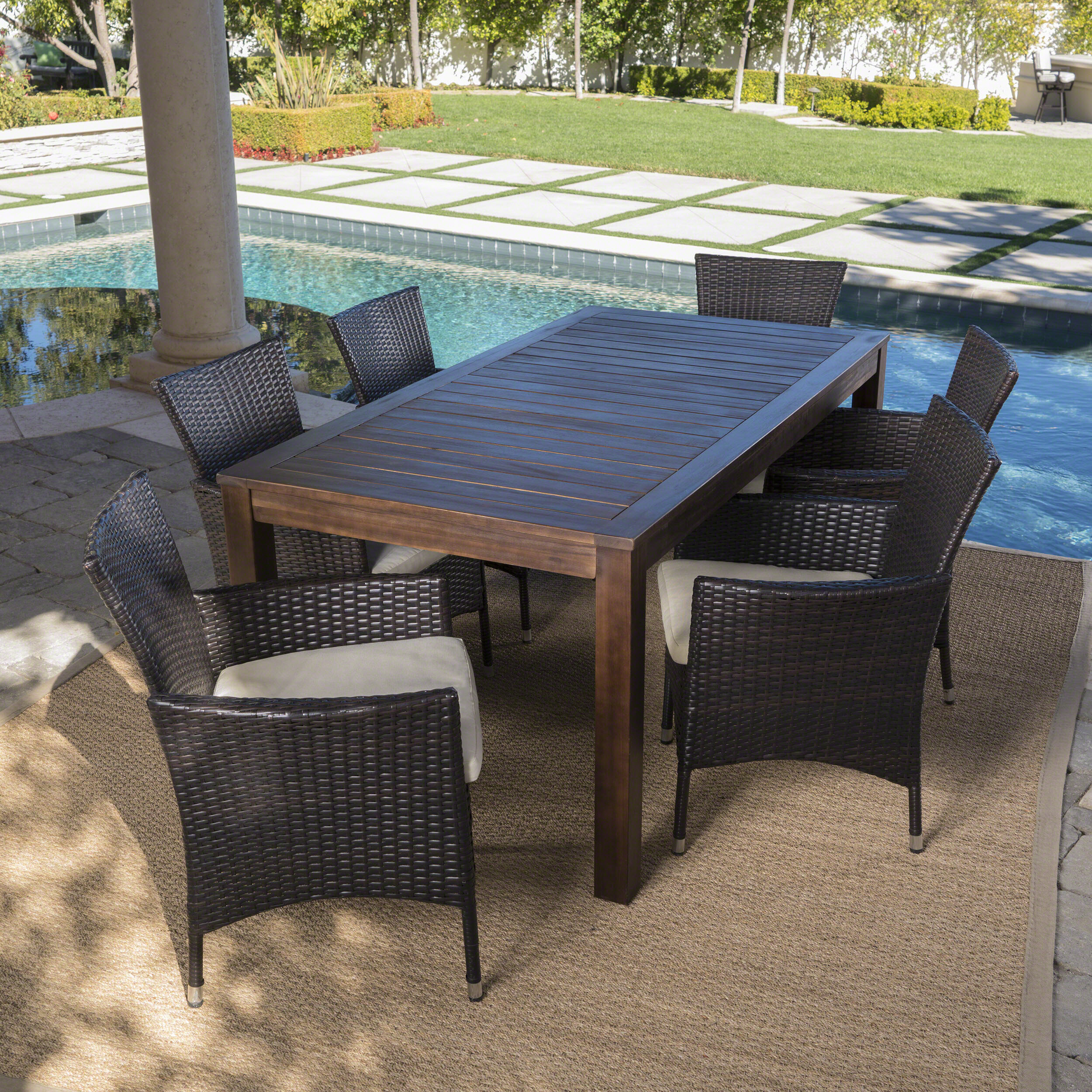 Appel Outdoor 14 Piece Dining Set with Cushions