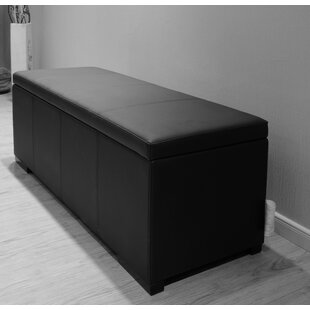 Haslett Upholstered Storage Ottoman by Latitude Run