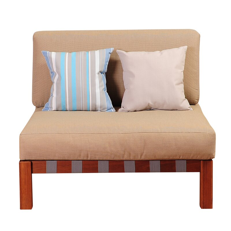 Great Price Elsmere Armless Chair With Cushions By