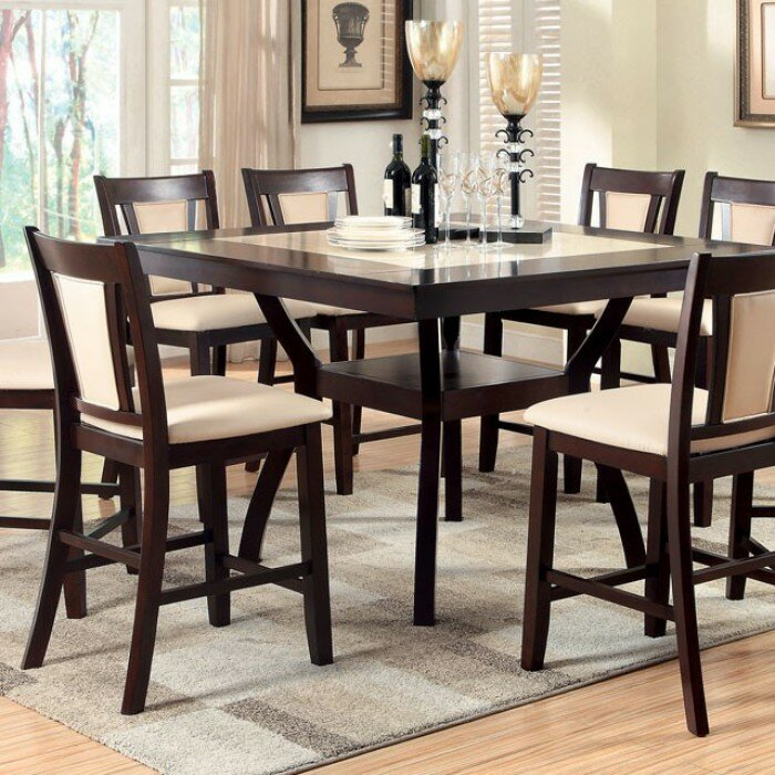 Ammon Marble Insert Counter Height Dining Table