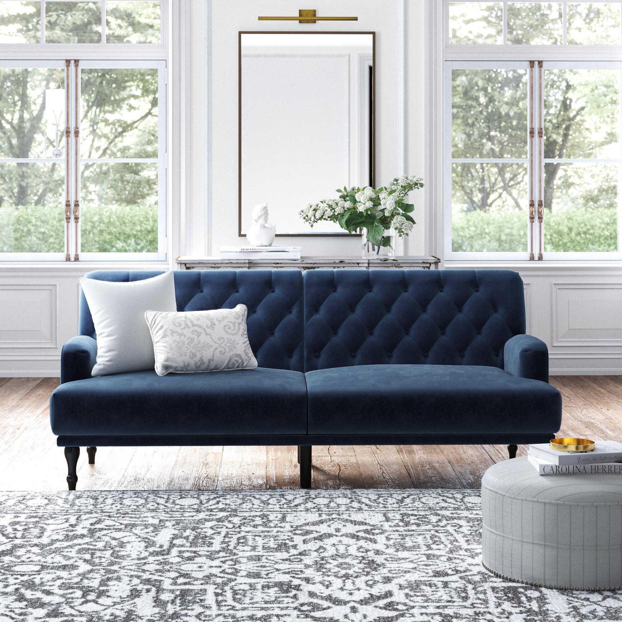 Rosdorf Park Lexi Twin Or Smaller 78 Tufted Back Convertible Sofa Reviews Wayfair