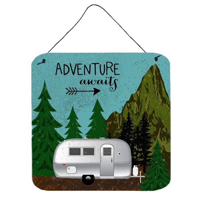 Airstream Camper Adventure Awaits Wall Décor