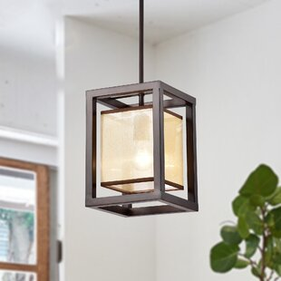 Gracie Oaks Cambra 1-Light Rectangle Pendant