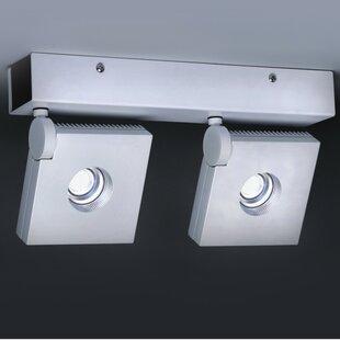 ZANEEN design Bridge 2-Light LED Semi Flush Mount