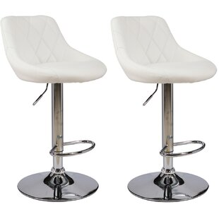 Somerset Series Height Adjustable Swivel Bar Stool (Set of 2) by Orren Ellis