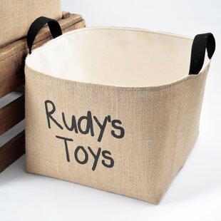 Savings Personalized Fabric Storage Bin ByA Southern Bucket