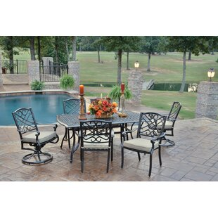 Reagan 7 Piece Dining Set with Cushions by Alcott Hill