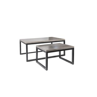 17 Stories Lingo 2 Piece Coffee Table Set