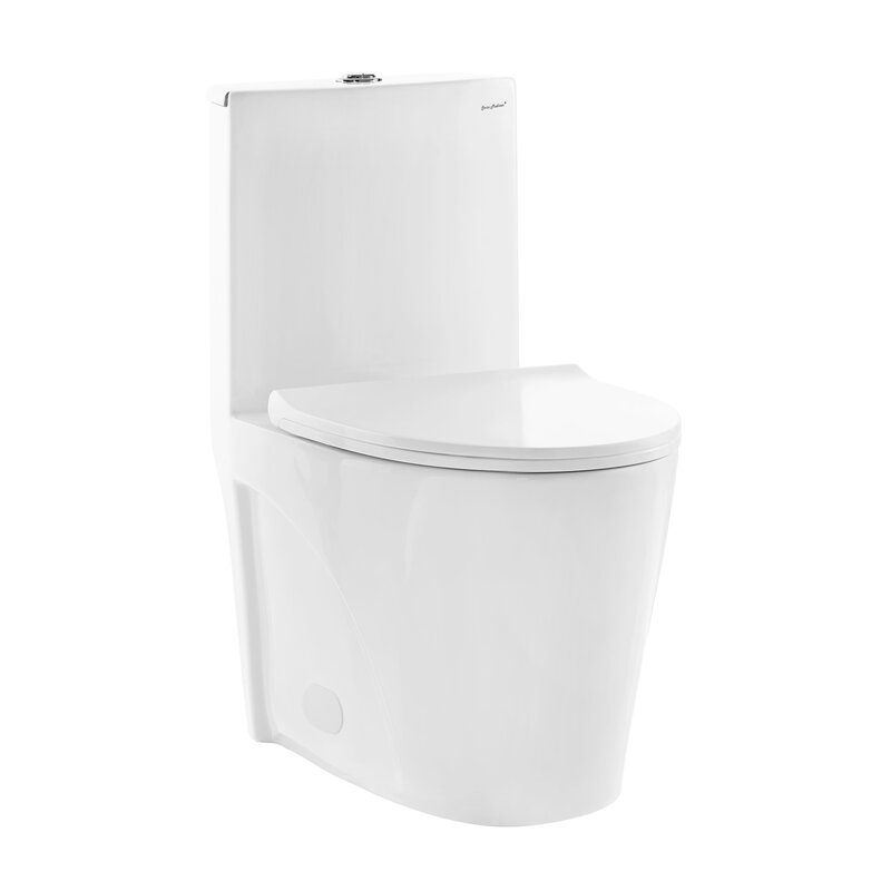 Swiss Madison St. Tropez® Dual Flush Elongated One-Piece Toilet ...
