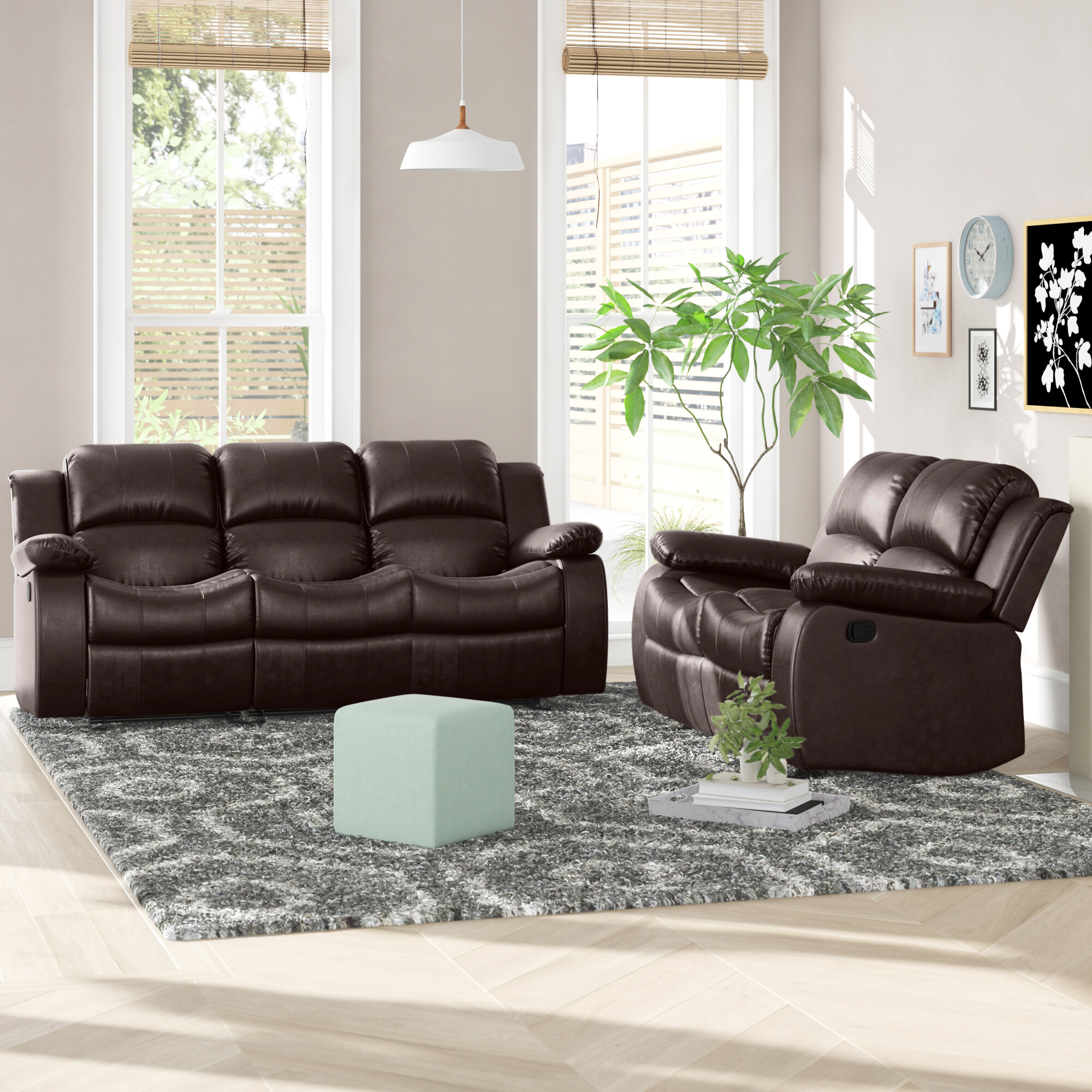 Bryce 12 Piece Faux Leather Reclining Living Room Set