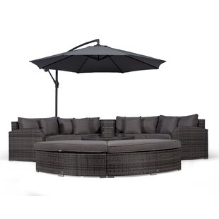 Woody 4 Seater Rattan Conversation Set By Sol 72 Outdoor