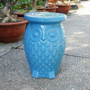 Bungalow Rose Makhzane Owl Ceramic Garden Stool