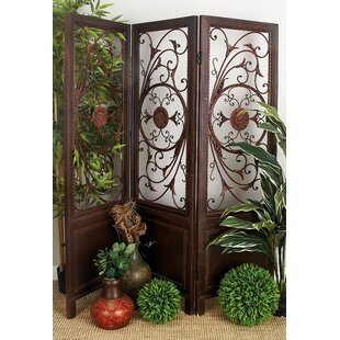 Inexpensive Ciccone Scroll Fret 3 Panel Room Divider By Fleur De Lis Living