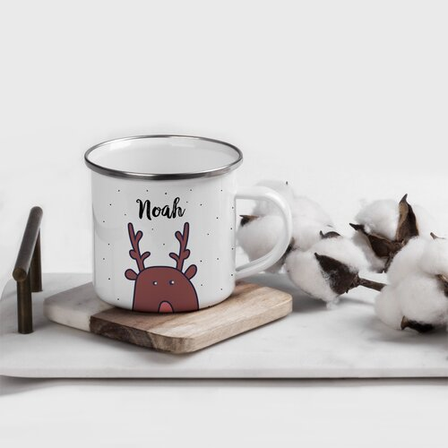 Personalised Christmas Hot Chocolate Mug Cup with Tree Design