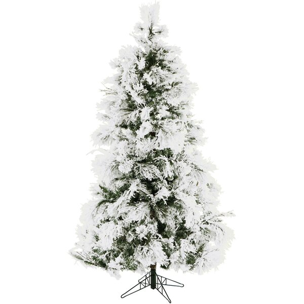 The Holiday Aisle Frosted 6.5\' Snow Fir Artificial Christmas Tree ...