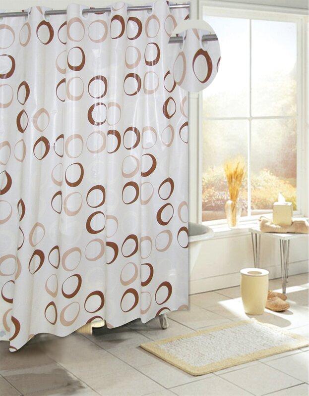 Ben and Jonah EZ-ON® PEVA Circles Shower Curtain & Reviews   Wayfair