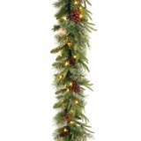 Colonial 9' Pre-Lit Garland with 50 Clear & White Lights