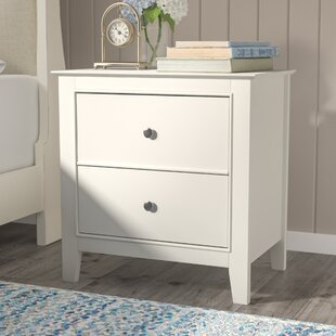 Beachcrest Home Clarendon 2 Drawer Nightstand