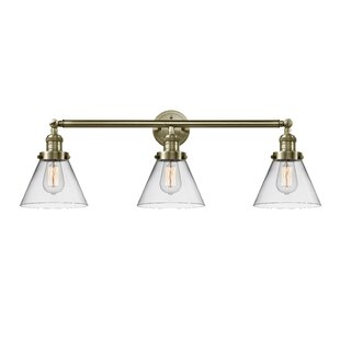 Williston Forge Andrade Cone 3-Light Vanity Light
