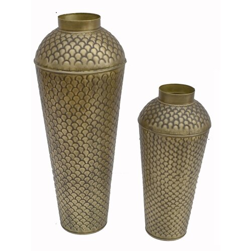 2-tlg. Bodenvase-Set Bloomsbury Market Farbe: Kupfer | Dekoration > Vasen > Bodenvasen | Bloomsbury Market