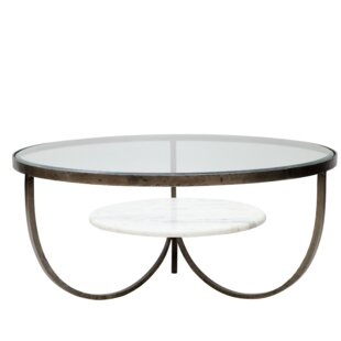 Hinman Iron, Glass and Marble Trio Coffee Table Latitude Run